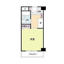 南堀江レヂデンス[0202号室]の間取り