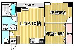 シャトー伊藤[301号室]の間取り