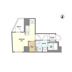 都営大江戸線 春日駅 徒歩3分の賃貸マンション 5階ワンルームの間取り