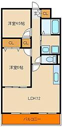 メゾンポパイ[3階]の間取り