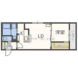 JR函館本線 桑園駅 徒歩4分の賃貸マンション 5階1LDKの間取り