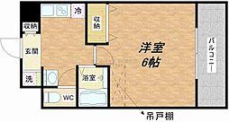 ラナップスクエア大阪城西[13階]の間取り