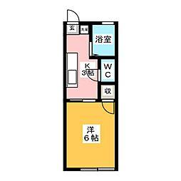 東名ハイツA棟[1階]の間取り