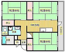 ライオンズマンション箕面B棟[5階]の間取り