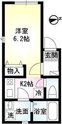 アルバ横須賀II[301号号室]の間取り