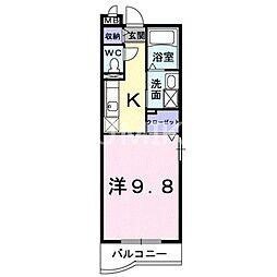 岡山県岡山市北区東古松の賃貸マンションの間取り
