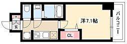 メイクスデザイン名駅南 9階1Kの間取り