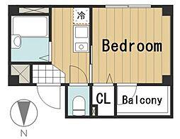 グラド新宿[203号室号室]の間取り