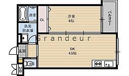 JR片町線(学研都市線) 徳庵駅 徒歩2分の賃貸マンション 1階1DKの間取り