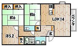 ソルジェンテ南方 A棟[2階]の間取り