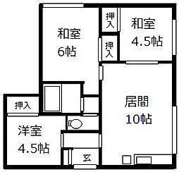 北海道札幌市清田区北野五条3丁目の賃貸アパートの間取り