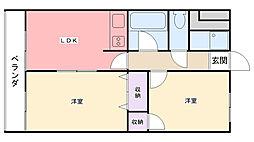 カーサ甲子園[1階]の間取り