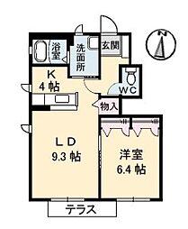 ヴィアソーレ B棟[105号室]の間取り