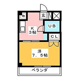 ベストハイツ三ツ井公園[2階]の間取り