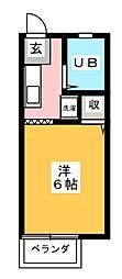 エクセル湘南[2階]の間取り