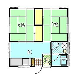 古堅アパート[2階号室]の間取り