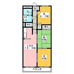 アネックス高田[4階]の間取り