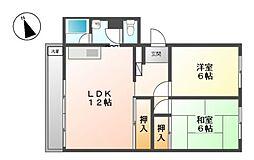 ハイホーム向陽苑[2階]の間取り