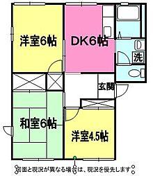 鈴木ハイツA[101号室]の間取り
