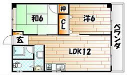 原田ビル[6階]の間取り