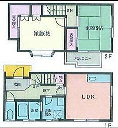 [テラスハウス] 神奈川県藤沢市辻堂4丁目 の賃貸【/】の間取り