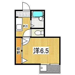 パーパス紫竹[2階]の間取り