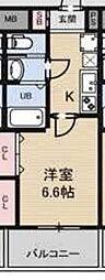 サムティ大阪CITY WEST[704号室]の間取り