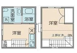 東京都新宿区百人町3丁目の賃貸アパートの間取り