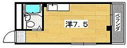 メゾンファミールフクイ[303号室]の間取り