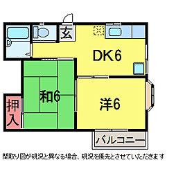 千葉県佐倉市鏑木町の賃貸アパートの間取り
