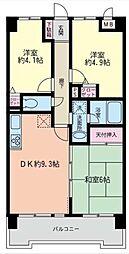 埼玉県さいたま市中央区上峰1丁目の賃貸マンションの間取り