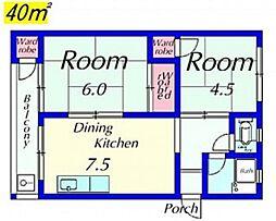 松田マンションA棟[162号室号室]の間取り