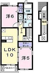 ガーデンヒルズ神戸西[2階]の間取り