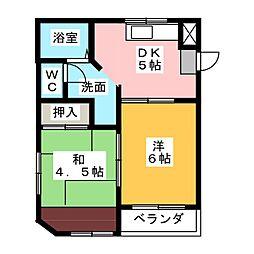 エポック鳴海[2階]の間取り