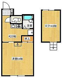 ウッドワン1番館[2階]の間取り