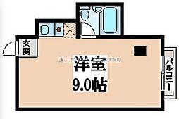 ルミナーレ東大阪[3階]の間取り