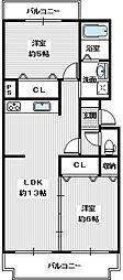 エステートV[3階]の間取り