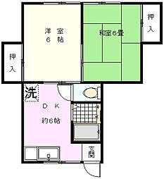 松見町永島荘[103号室]の間取り