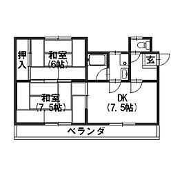 ハイツTANAKA[202号室]の間取り