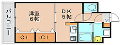 サンライク箱崎[6階]の間取り