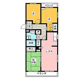 コープ野村半田I号棟[4階]の間取り