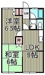 サニーコート山崎[102号室]の間取り