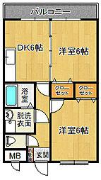 スカイマンションE[305号室]の間取り