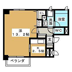 La Casa Alba Due[3階]の間取り