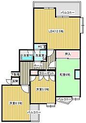 東峰マンション第2西公園[2階]の間取り