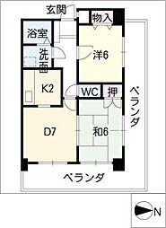 MILE・STONE・IZUMI[6階]の間取り
