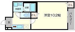 北大阪急行電鉄 江坂駅 徒歩13分の賃貸アパート 1階1Kの間取り