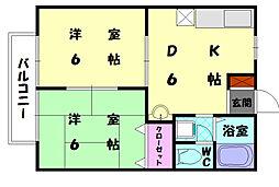 アメニティロード21[2階]の間取り