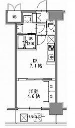 スプランディッド新大阪キャトル[12階]の間取り