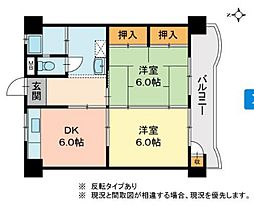 サンライフ津倉[3階]の間取り